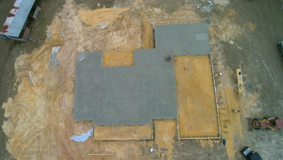 Mobile Concrete aeriel view of new concrete project