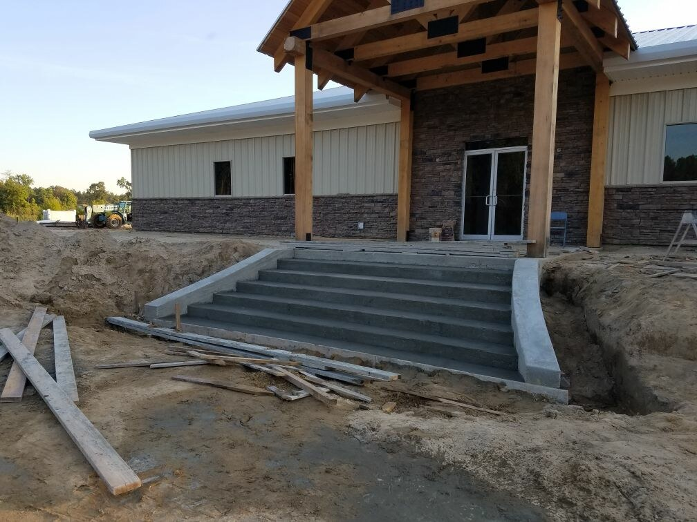 Mobile Concrete new building project stairs