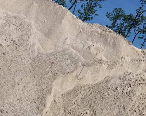 Mobile Concrete mounds of sand grains or similar material