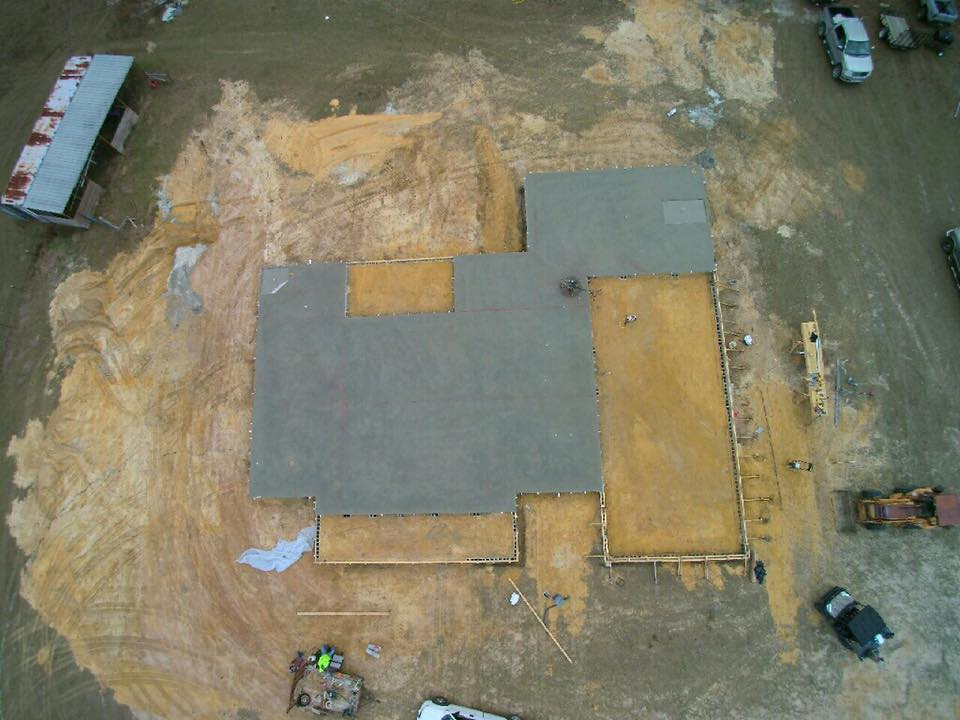Mobile Concrete overhead view of new concrete structures